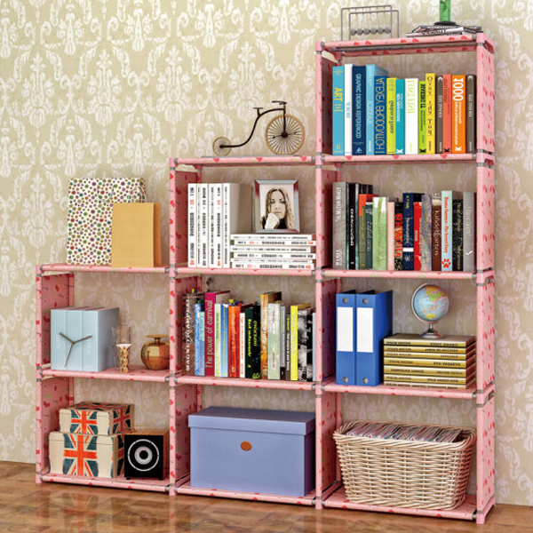 Multi Storey Three Partition Organizer Shelf - Apricot