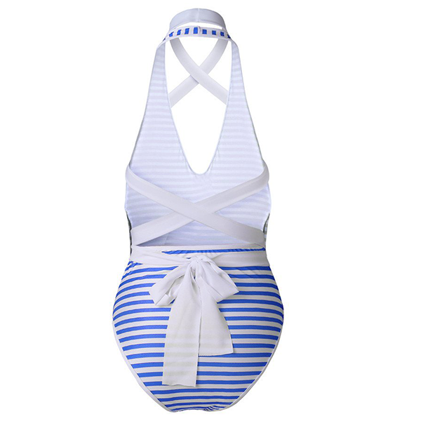String Knotted Strap Shoulder Beach Swimsuit