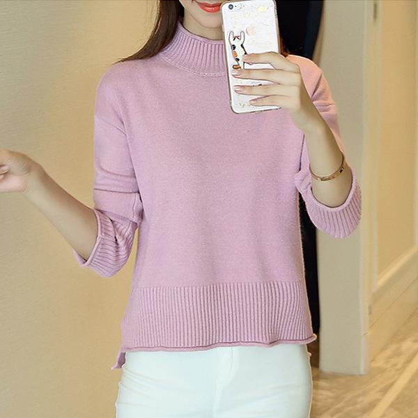 Ribbed O Neck Formal T-Shirt - Pink
