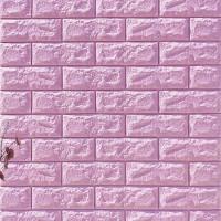 3D Brick Wall Stickers Self Decor Foam Waterproof Wall Covering Wallpaper For TV Background Kids Living Room - Purple