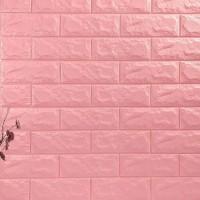 Stereo Waterproof Bricks Wall Paste 3D Wall paper - Pink