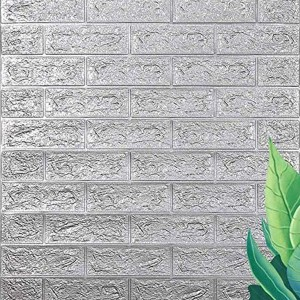 Stereo Waterproof Bricks Wall Paste 3D Wall paper - Gray