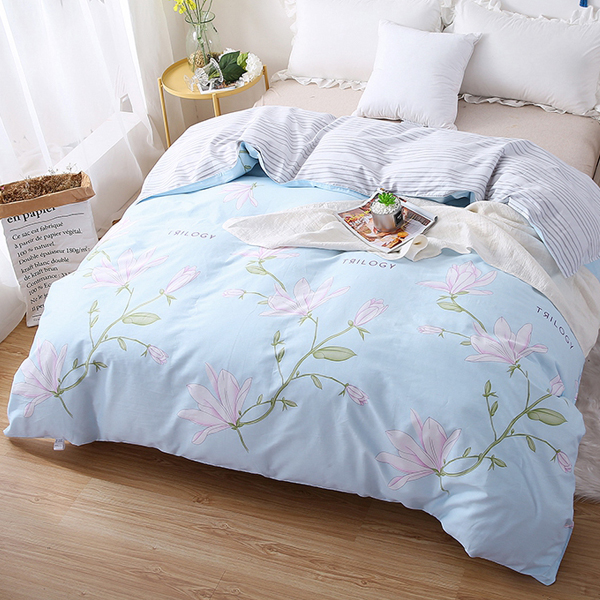 Bed Room Essential Printed Quilt Cover - Sky Blue
