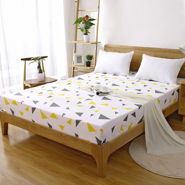 Printed Multi Color Fitted Bed Sheet With Elastic Band