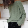 Loose Winter Knitted Soft Sweater - Green
