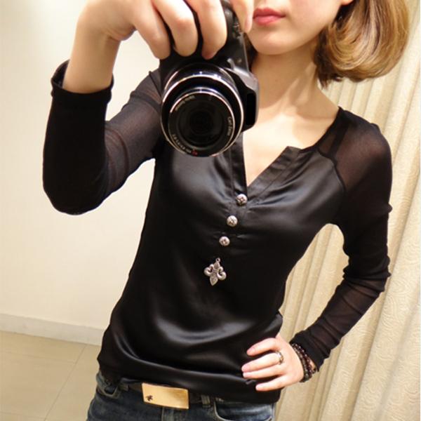 Bohemian Button Up Casual Wear Blouse Top - Black