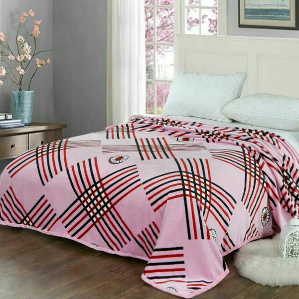 Bedroom Essentials Printed Thin Blanket - Stripes