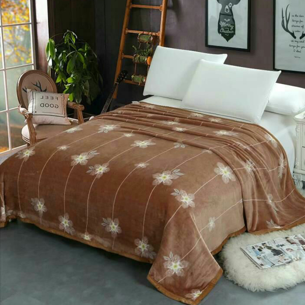 Floral Line Print High Quality Thin Blanket