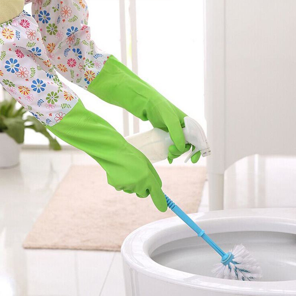 Multipurpose Cleaner Two Pieces Long Gloves - Floral