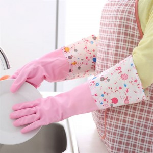 Multipurpose Cleaner Two Pieces Long Gloves - Pink