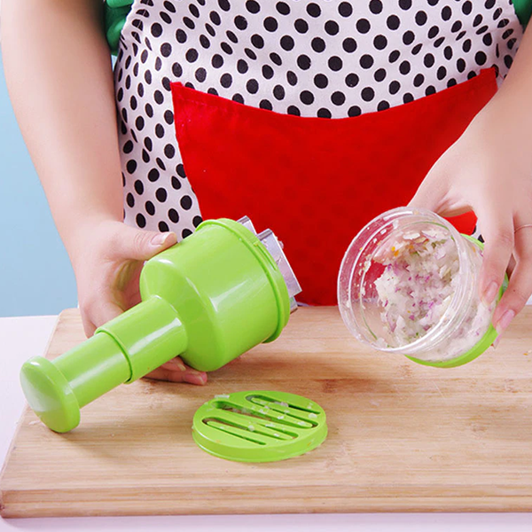 Quality Handy Manual Vegetable Chopper - Green
