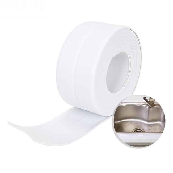 Anti Leakage PVC Corner Adjustable Tape - White
