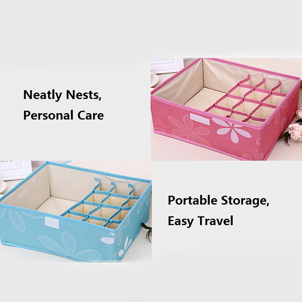 Printed Multipurpose Garments Storage - Pink