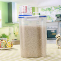 Sealed Food Storage Jar With Measurement