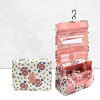 Hearts Printed Traveller Cosmetics Bags - Pink