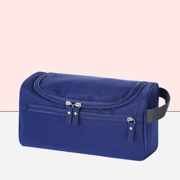Multi Pockets Canvas Cosmetics Mini Bags - Blue