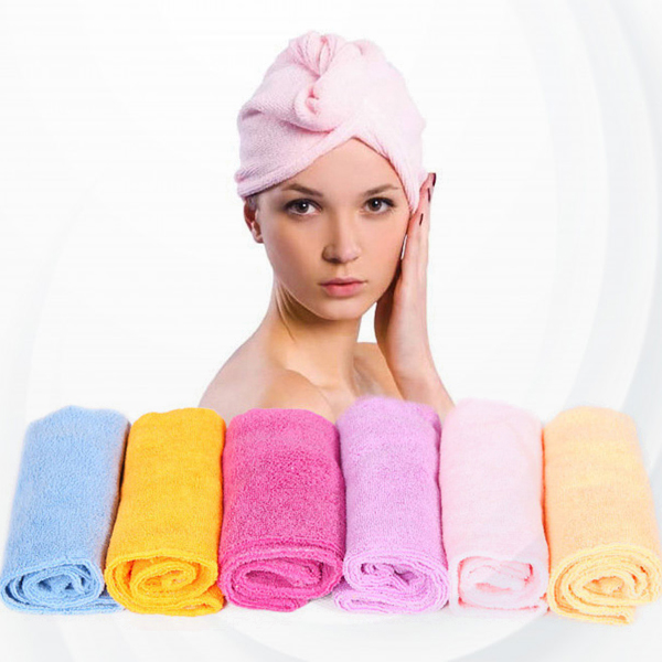 After Shower Hair Drying Cap Towel - Pink