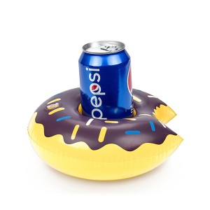 Round Inflatable Donut Drink Holder For Pool - Blue