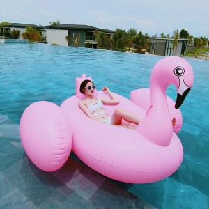 Pink Giant Swan Adult Swimming Floater