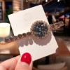 Crystal Decorative Party Wear Hair Clips - Blue