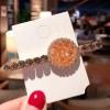 Crystal Decorative Party Wear Hair Clips - Orange