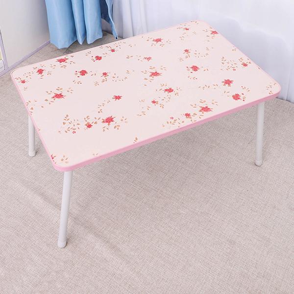 Foldable Multi-Purpose Printed Table - Pink Flowers