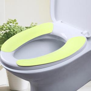 Two Pieces Toilet Seat Comforter Set - Green