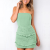 Bandeau Style Lace Mini Evening Dress