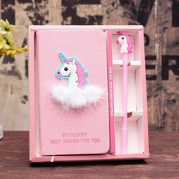 Unicorn Design Pen Book Creative Stationery Gift