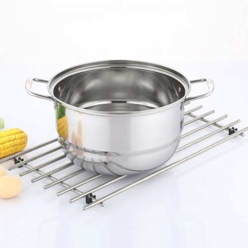 Double Steam Cooking Stainless Steel Pots