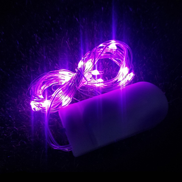 Happy Easter Easy Portable LED Lights One Meter - Purple