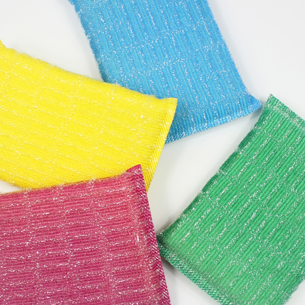 Four Pieces Daily Use Dish Wash Sponge Set