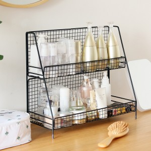 Multipurpose Two Layered Fancy Rack - Black