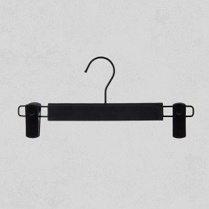 Quality Plastic Hanger With Clips - Black