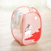 Printed Wide Space Laundry Basket - Red