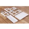 Multipurpose Adjustable Plastic Rack - White