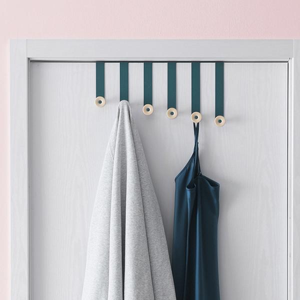 Punching Stainless Door Hanger Steel Towel Hook - Green