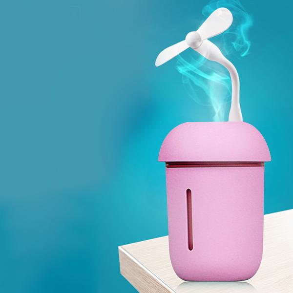 Air Freshener Mushroom USB Humidifier - Pink