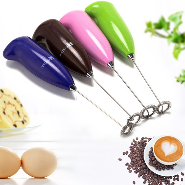 Plastic Handheld Electric Egg Beater / Milk Frother