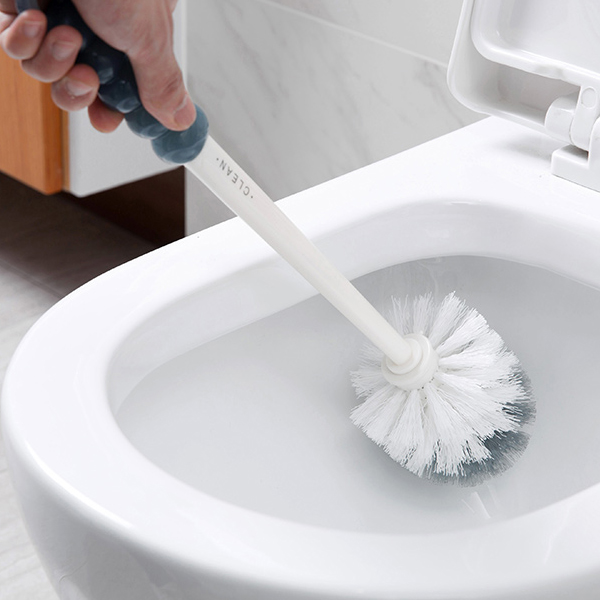 Creative Toilet Cleaning Dual Side Toilet Brush - White