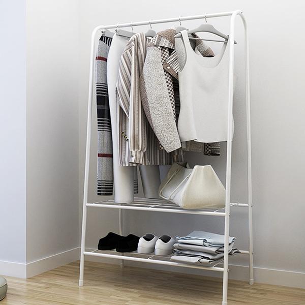 Creative Multipurpose Clothes Organizer Rack - White