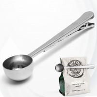Stainless Steel Scoop With Closure Clip