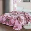 Bedroom Essentials Printed Thin Blanket - Pink