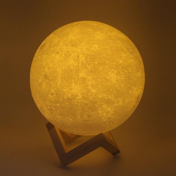 Sleep Relaxing Night Moon 3D Lamp - 16 Colors