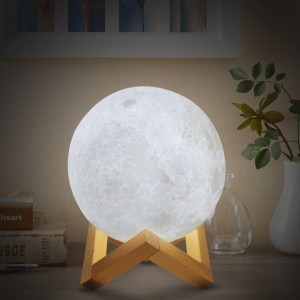 Sleep Relaxing Night Moon 3D Lamp - 16 Colors