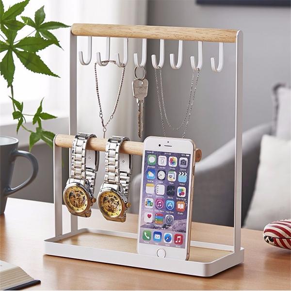Multipurpose Smart Table Organizer Rack - White