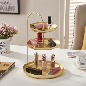 Three Layered Round Shaped Jewellery Storage Rack
