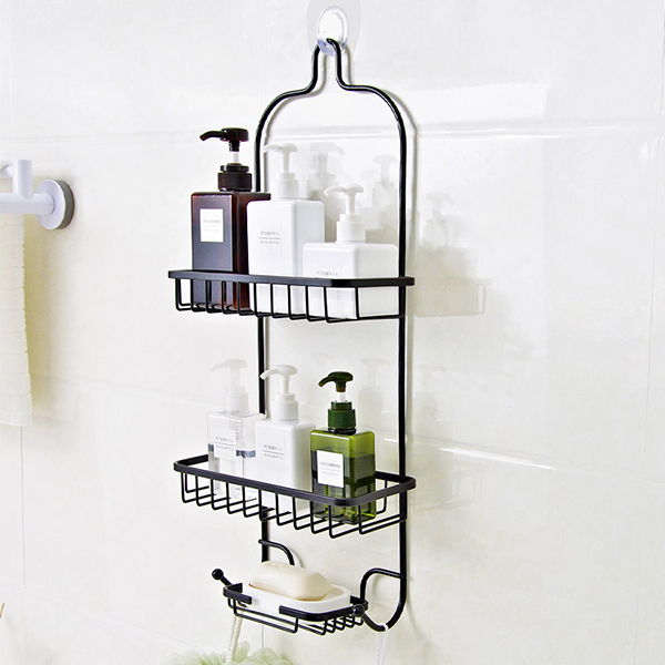 Fancy Creative Metal Bathroom Holder Rack - Black