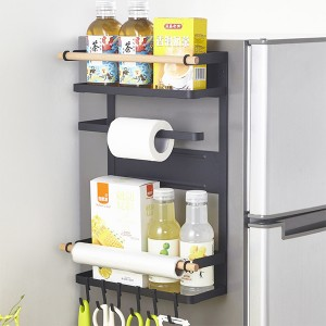Easy Hanging Kitchen Storage Rack - Black