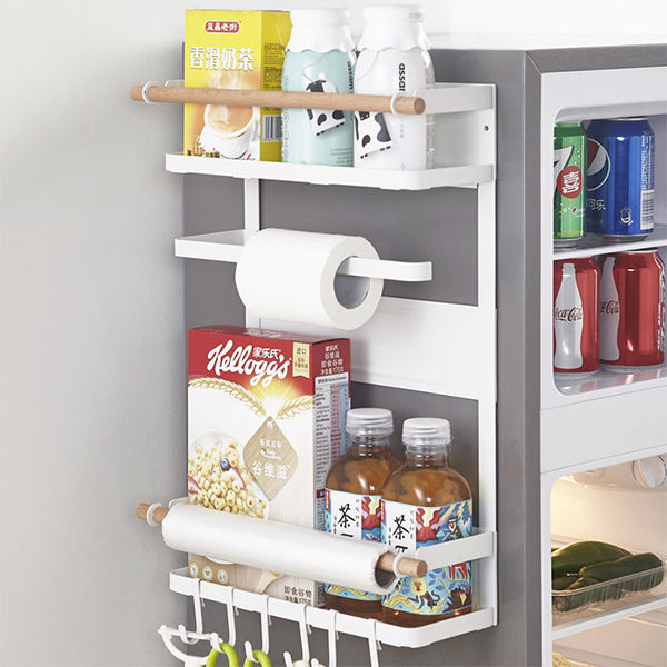 Easy Hanging Kitchen Storage Rack - White